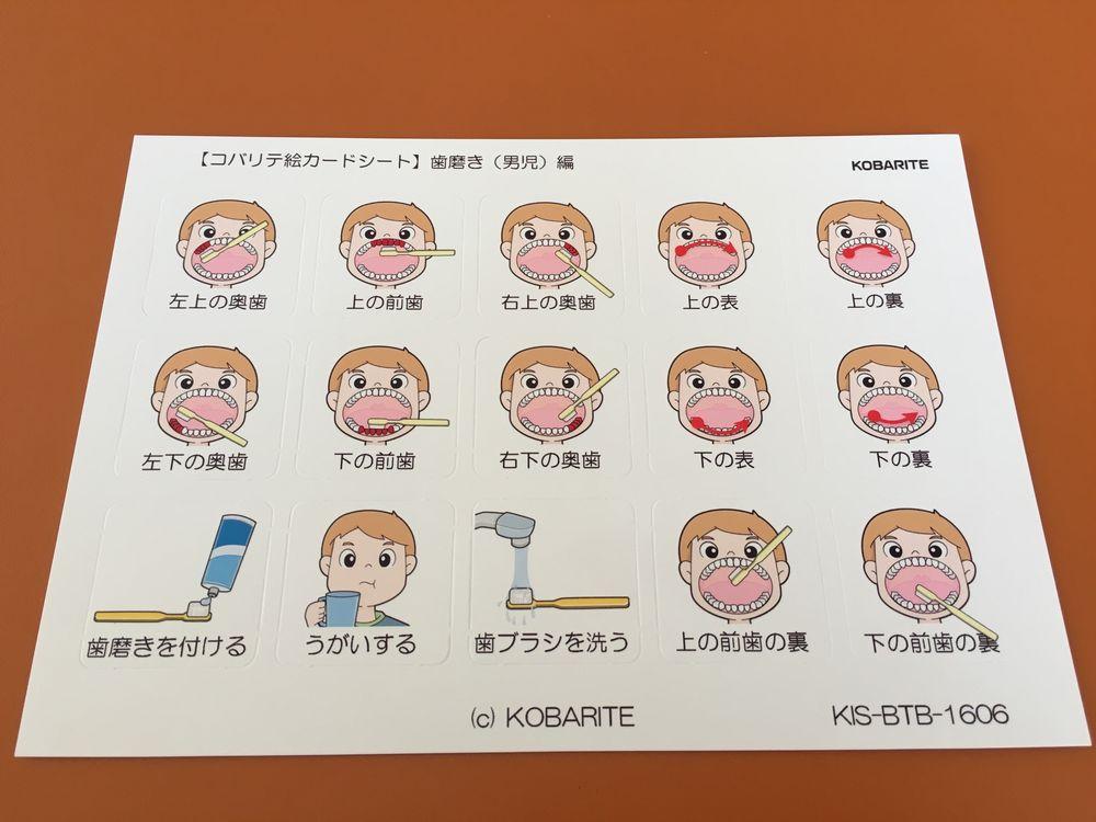 自閉症 歯磨き 絵カード 手順